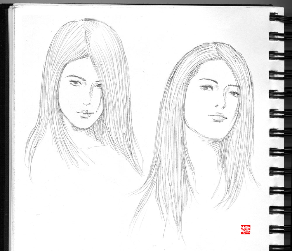 It's just an image of Clean Asian Face Drawing