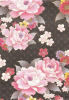 Japanese Peonies by Qi-lin