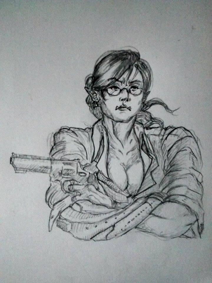 /tg/ request -  Shadowrun female orc by seiyikun