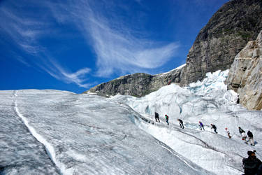 On the glacier by Vironevaeh