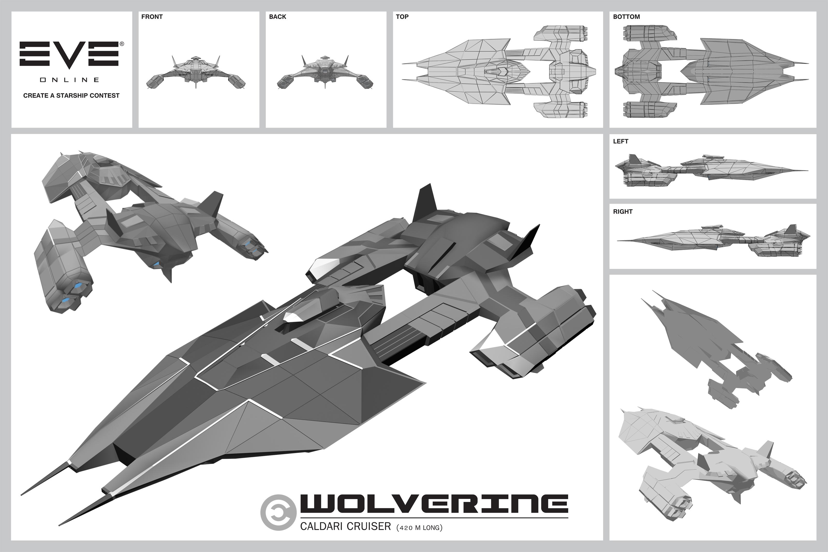 "Caldari ""Wolverine"" Cruiser by CosmoS6173"