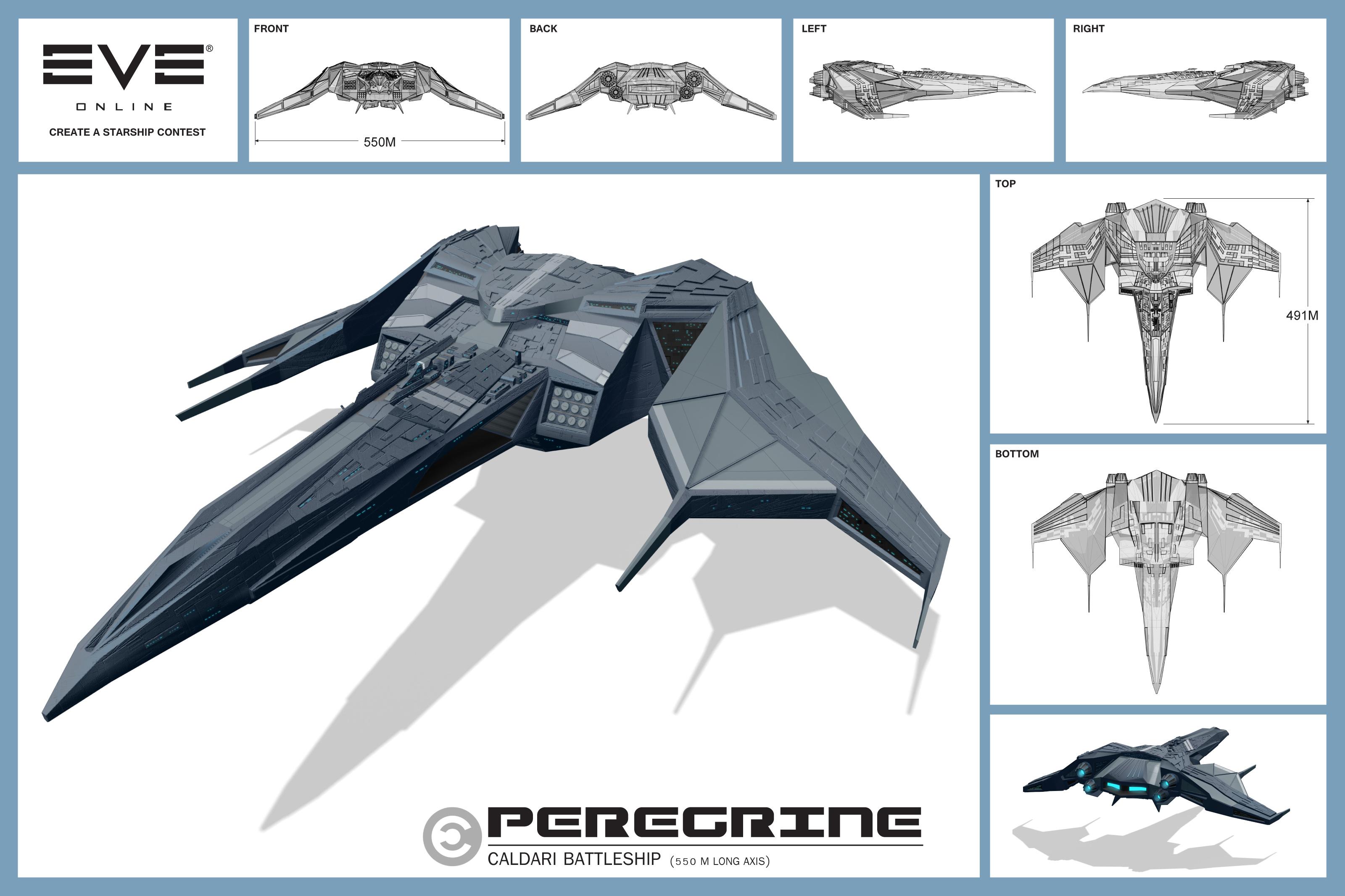 Caldari Peregrine Battleship by CosmoS6173