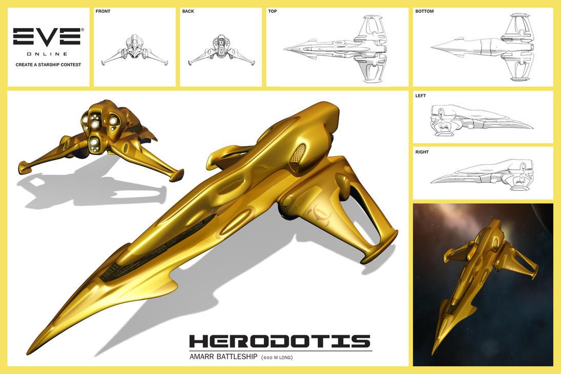 Amarr Herodotis Battleship by CosmoS6173