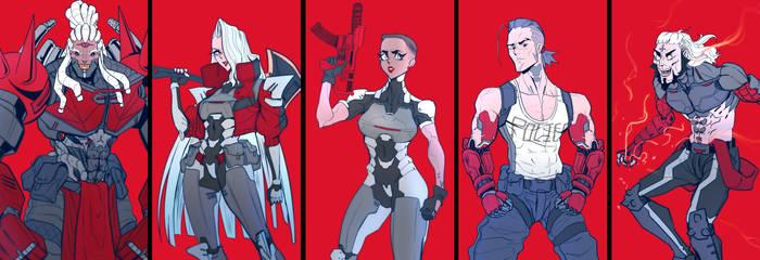 cyberpunk characters badass