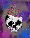 Psychedelic mash up / skull