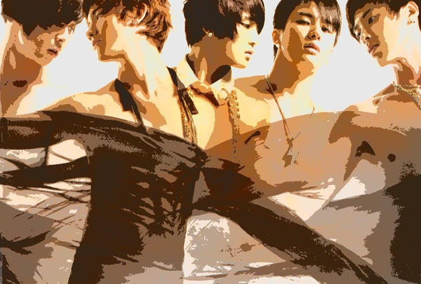 DBSK PAINT by deikaru