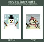 Snowman for (Draw This Again) by BizmasterStudios