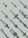 Sword Icon Set by BizmasterStudios