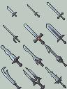 Sword Icon Set by BizmasterStudios