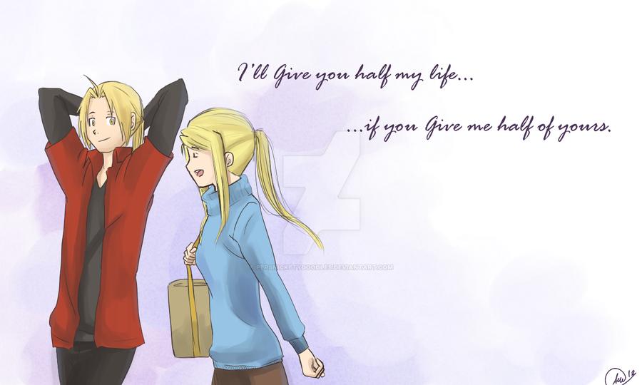 I'll give you half my life... by Perfectlykawaii93