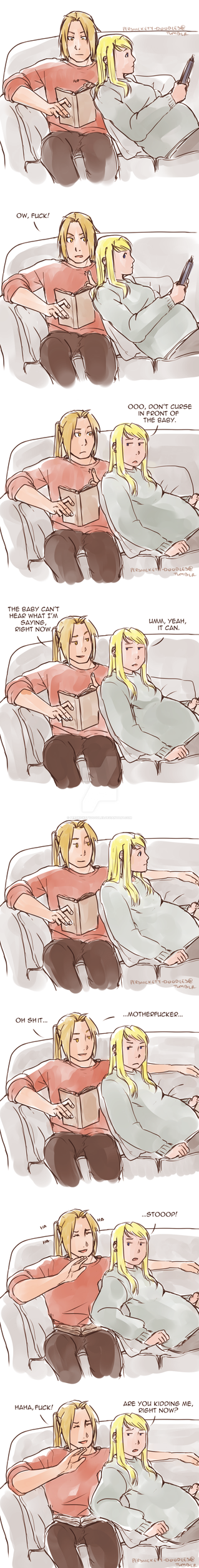 Not In Front Of The Baby by Perfectlykawaii93