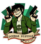Homestuck:: Double Pistols and a wink