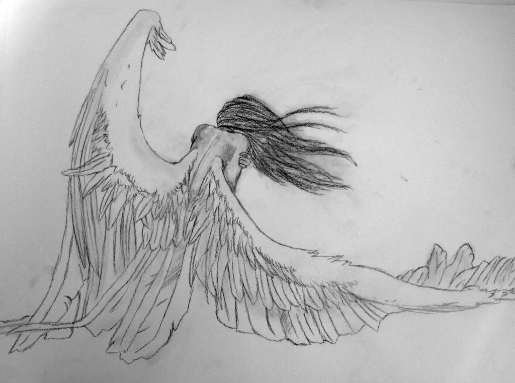 Fallen Angel by vulpixhelen
