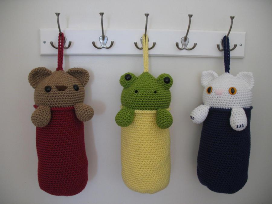 Crochet Pattern For Trash Bag Holder : Amigurumi Plastic Bag Holders by djonesgirlz on DeviantArt