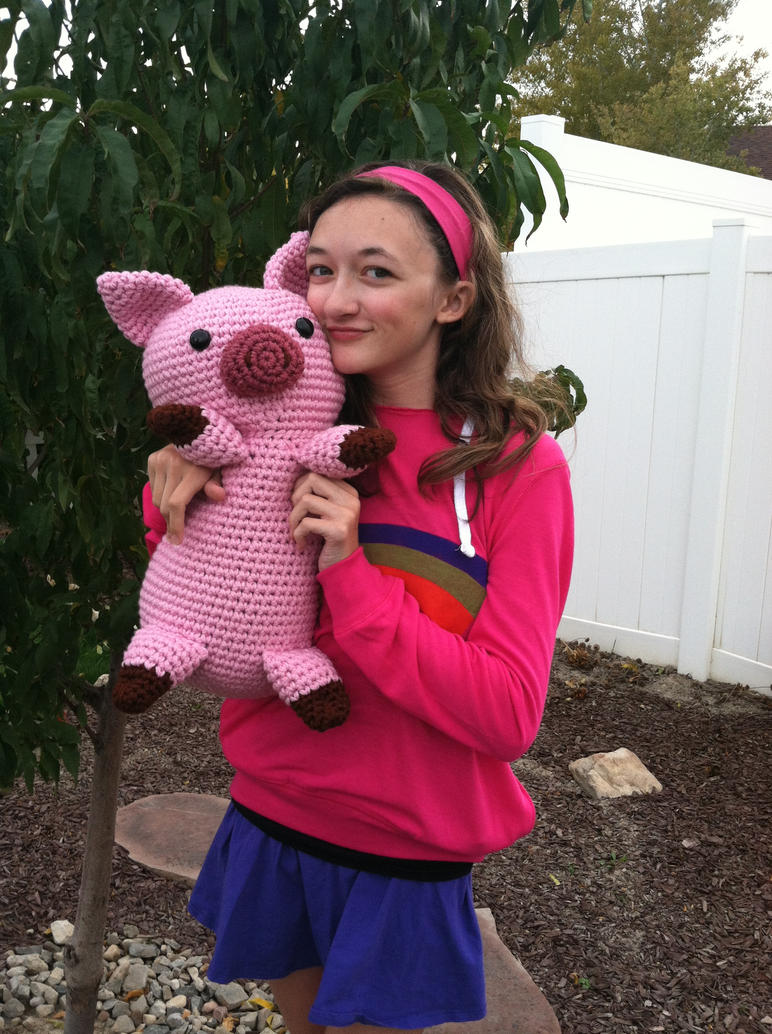 Mabel Pines and her Pig, Waddles by djonesgirlz