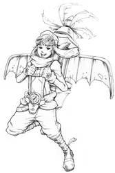 Aviator Boy (lineart)