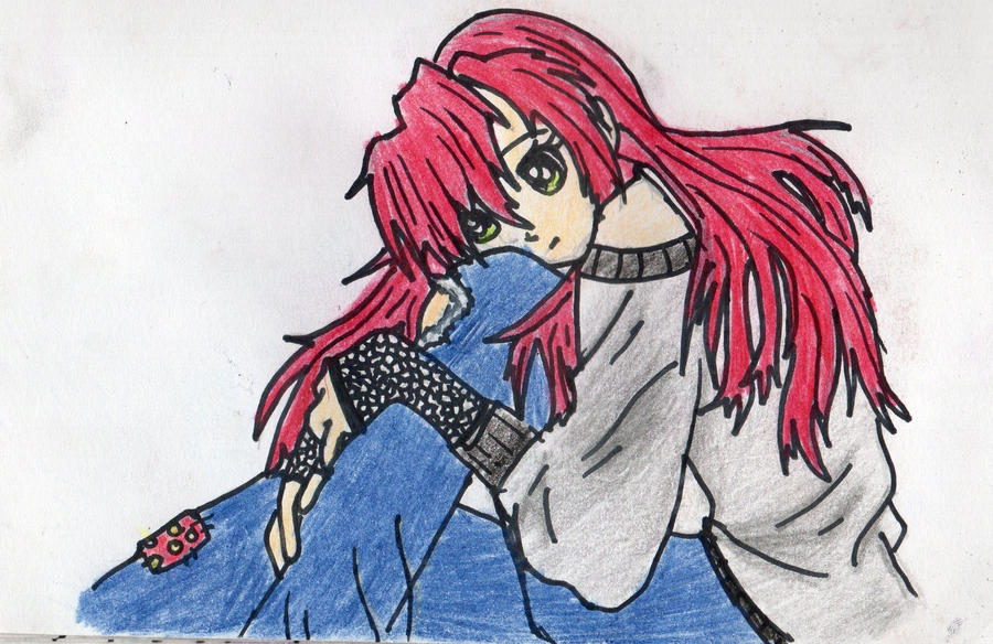 Lonely anime girl by WtFoMgIdC on DeviantArt