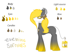 Flamelight pony OC: Evening sorrows by Dottybobbles