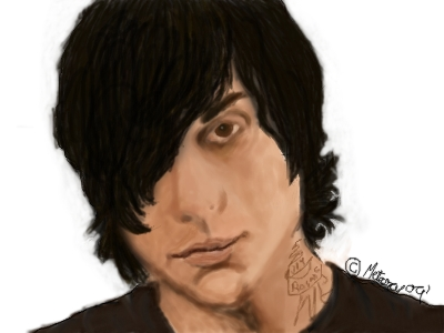 Frank Iero Digital Painting by chapaillini
