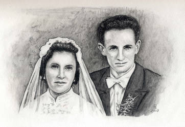 Wedding Picture Drawing by pesim65