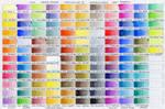 Neocolor II Color Chart