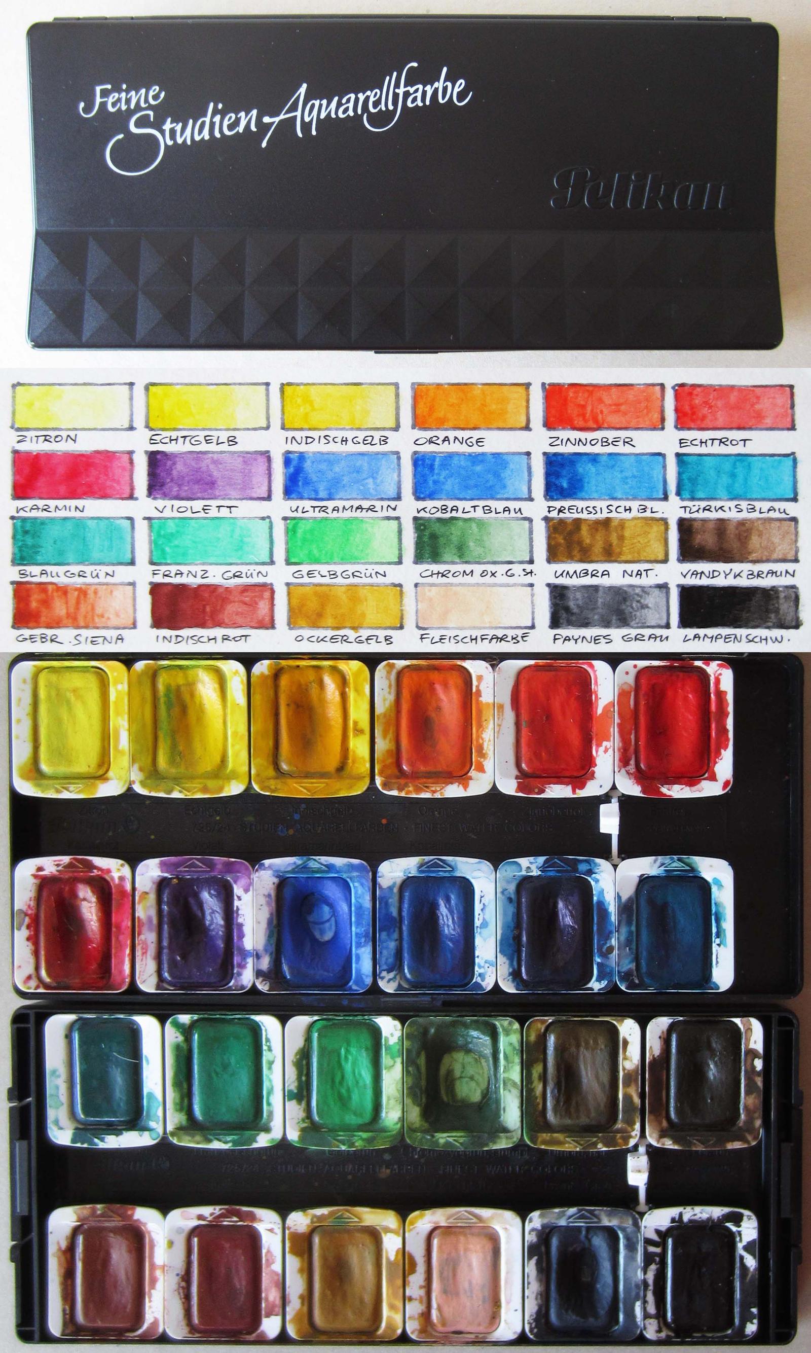 Pelikan Feine Studien Aquarellfarbe by pesim65