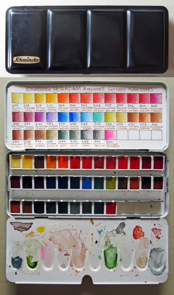 акварельные краски Шминске