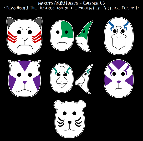 Naruto Ep68 - ANBU Masks by purpledragon42 on DeviantArt