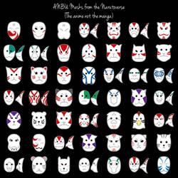 Naruto ANBU Masks by purpledragon42