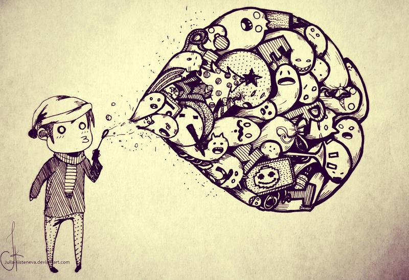 Winter doodle by Julia-Kisteneva