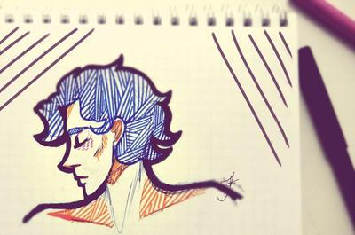 Sherlock doodle by Julia-Kisteneva