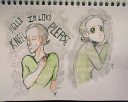 Loki sketches by Julia-Kisteneva