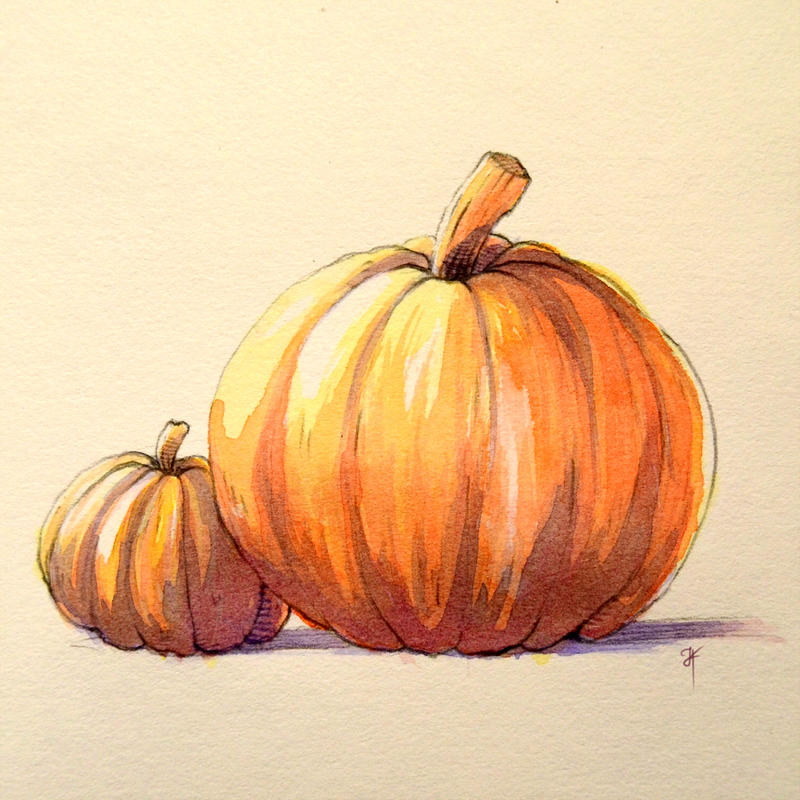 Pumpkins! by Julia-Kisteneva