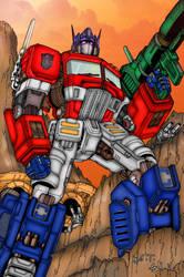 Optimus Prime by ButIStillw8ting