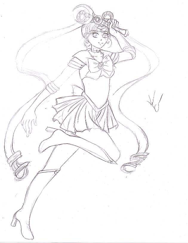 Sailor Moon Sketch by gaurdinangelsango