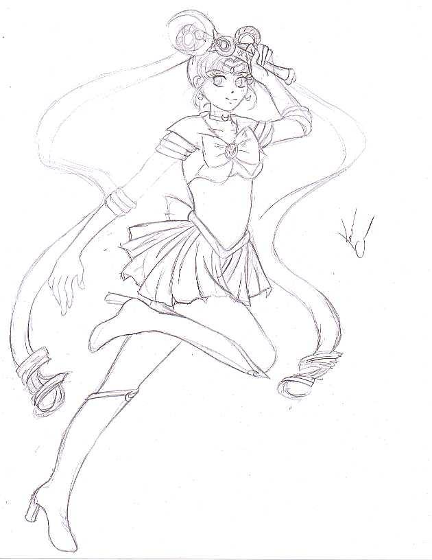 Sailor Moon Sketch by gaurdinangelsango