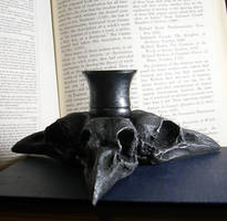 Triple Crow Skull Candle Holder - Sold
