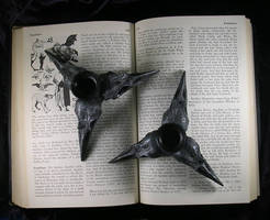 Pair of Triple Crow Skull Candle Holders - Sold