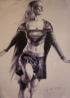 Supergirl drawing study by highlandheart1968