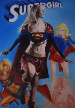 Supergirl Painting