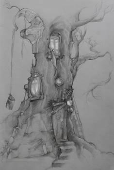 concept art: the hermit's lair