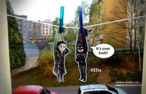 Loki and Batman are Dried by elinkalo