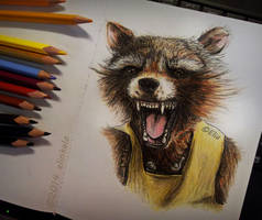 OH YEAH! Rocket Raccoon by elinkalo