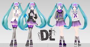 .: LAT Sweet Devil Style Hatsune Miku DL :. by Duekko
