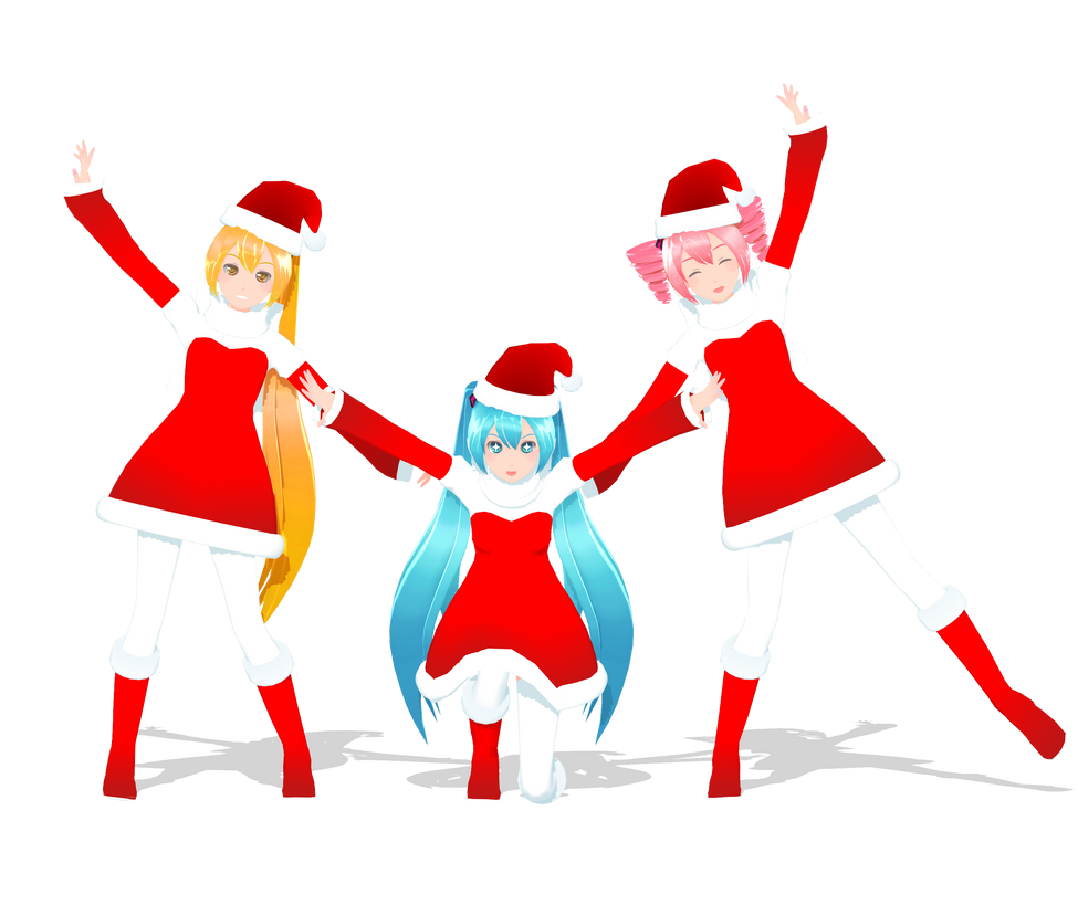 .: DL Series :. Christmas Neru, Miku and Teto by Duekko