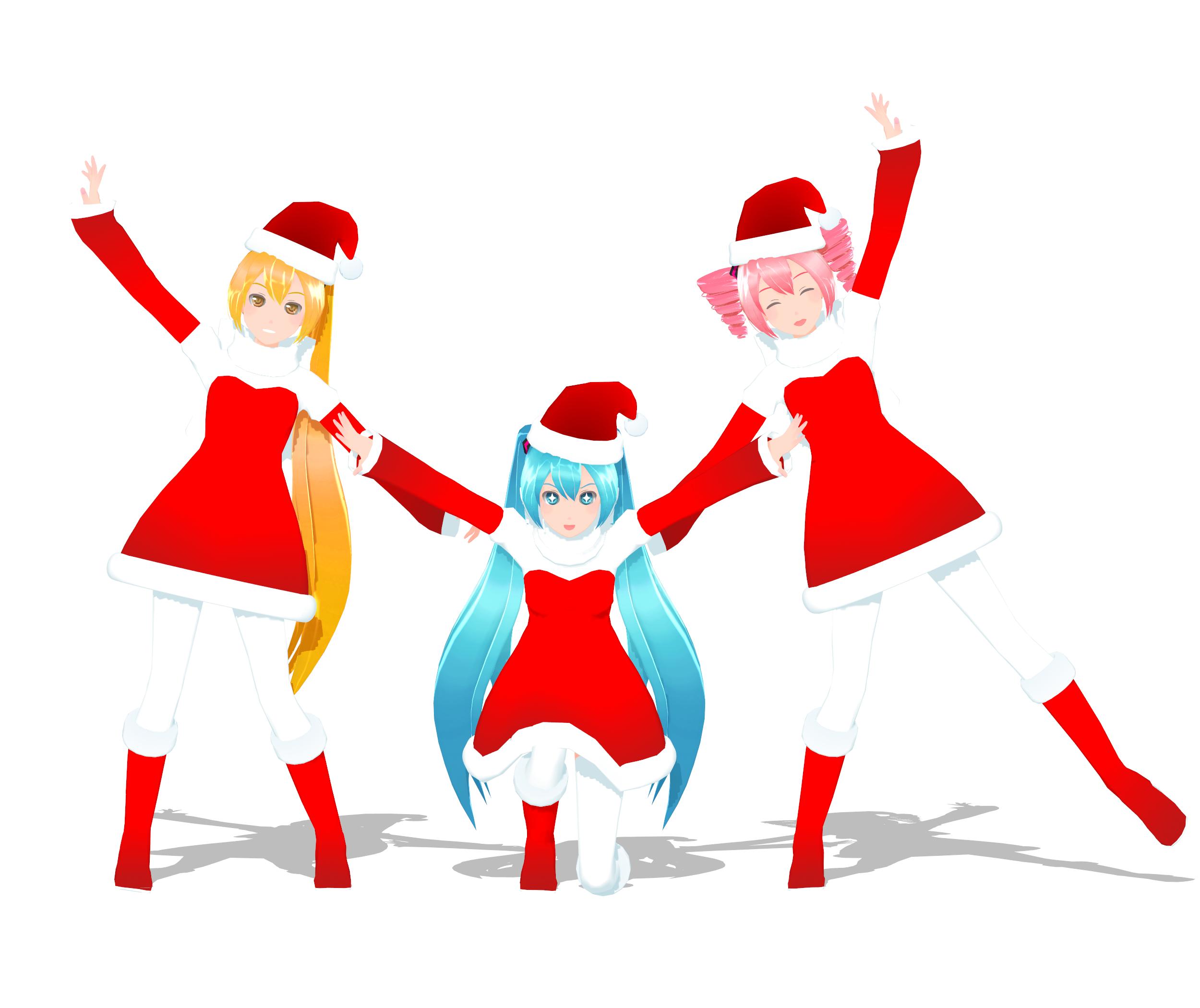 .: DL Series :. Christmas Neru, Miku and Teto by Duekko