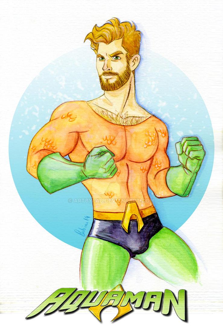 Aquaman fanart -bis- by ArtByFab