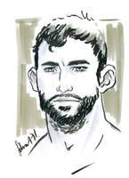 boxer face sketch