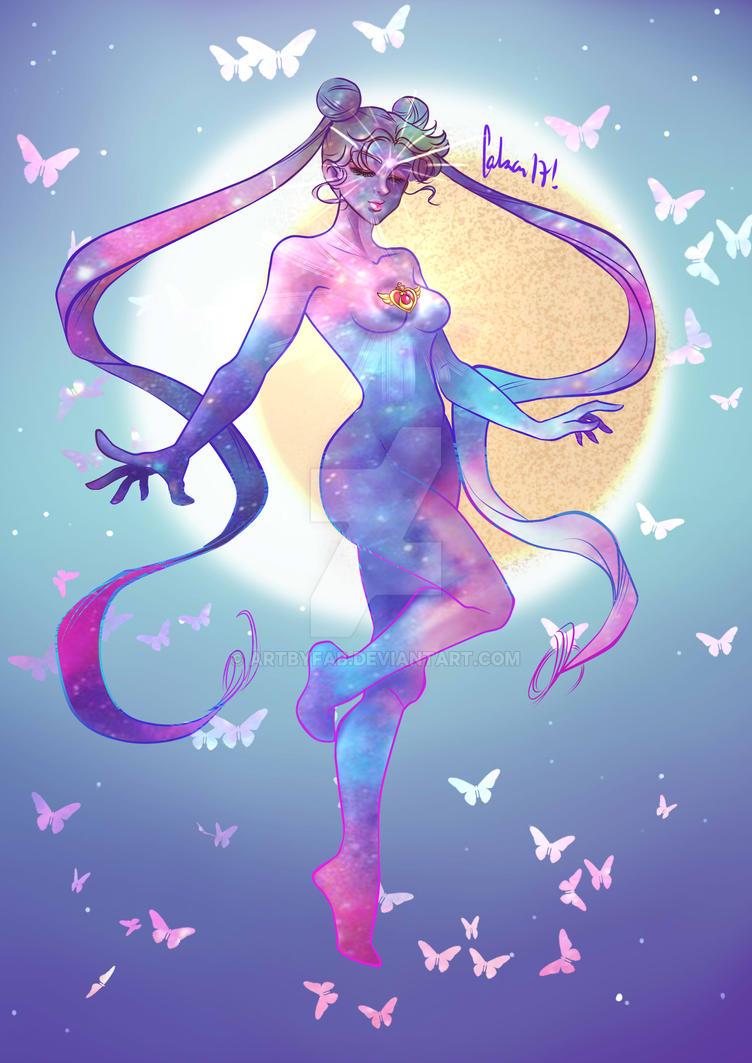 Usagi Tsukino transformation SailorMoon by ArtByFab