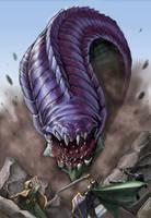 Purple worm by FredHooper